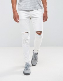 Antioch Ripped Skinny Jeans In White afbeelding