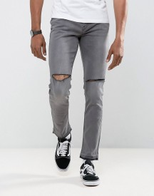 Antioch Ripped Skinny Jeans With Unrolled Hem afbeelding