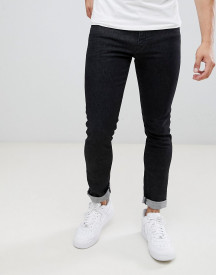 Armani Exchange J14 Skinny Fit 5 Pocket Stretch Jeans In Washed Black afbeelding