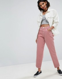 Asos Carpenter Jeans In Washed Pink afbeelding