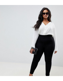 Asos Design Curve Pull On Jegging In Clean Black afbeelding