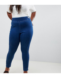 Asos Design Curve Pull On Jegging In Flat Blue Wash afbeelding
