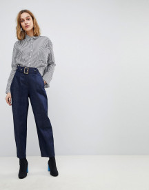 Asos Design Alanis Balloon Leg Denim Trousers In Raw Indigo afbeelding