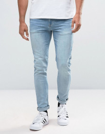 Asos Skinny Jeans In Light Wash afbeelding