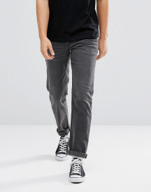 Asos Stretch Slim Jeans In Washed Black afbeelding