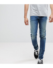Asos Tall Skinny Jeans In 12.5oz Mid Blue afbeelding
