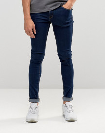 Asos Design Extreme Super Skinny Jeans In Raw Blue afbeelding