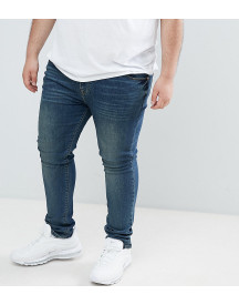 Asos Design Plus Super Skinny Jeans In Dark Blue Wash afbeelding