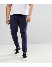 Asos Design Plus Super Skinny Jeans In Navy afbeelding