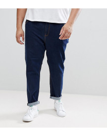 Asos Design Plus Tapered Jeans In Indigo afbeelding