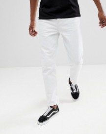 Asos Design Recycled Tapered Jeans In White afbeelding