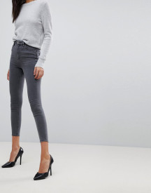 Asos Design Ridley High Waist Skinny Jeans In Grey afbeelding