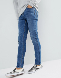 Asos Design Skinny Jeans In Dark Wash afbeelding