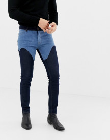Asos Design Skinny Jeans In Indigo With Western Detail afbeelding