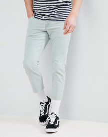 Asos Design Slim Jeans In Bleached Down Wash afbeelding