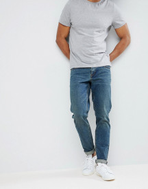 Asos Design Slim Jeans In Vintage Dark Wash afbeelding