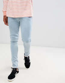 Asos Design Super Skinny Jeans In Bleach Wash afbeelding
