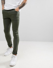 Asos Design Super Skinny Jeans In Green afbeelding