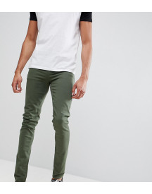 Asos Design Tall Skinny Jeans In Green afbeelding