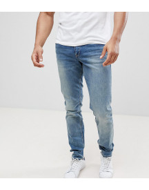 Asos Design Tall Slim Jeans In Mid Wash afbeelding