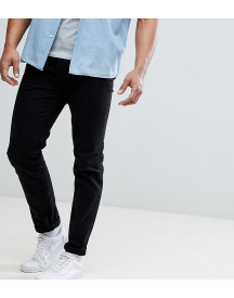 Asos Design Tall Tapered Jeans In Black afbeelding