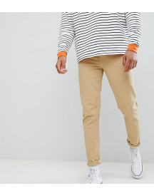 Asos Design Tall Tapered Jeans In Stone afbeelding
