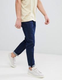 Asos Design Tapered Jeans In Indigo afbeelding