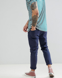 Asos Design Tapered Jeans In Navy afbeelding