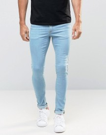 Asos Extreme Super Skinny Jeans In Bleach Wash afbeelding