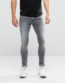 Asos Extreme Super Skinny Jeans In Light Grey afbeelding