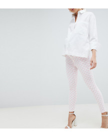 Asos Design Maternity Ridley High Waist Skinny Jeans In Pink Mono Print afbeelding