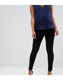 Asos Design Maternity 'sculpt Me' Premium Jeans In Clean Black With Under The Bump Waistband afbeelding