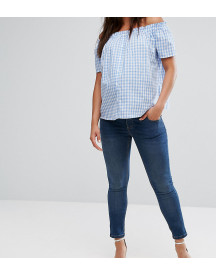 Asos Maternity Ridley Skinny Jean In Mid Wash With Over The Bump Waistband afbeelding