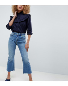 Asos Design Petite Egerton Rigid Cropped Flare Jeans In Vintage Mid Wash afbeelding