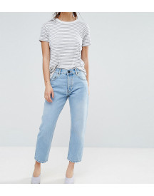 Asos Design Petite Florence Authentic Straight Leg Jeans In Cambridge Light Mid Wash afbeelding