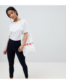 Asos Design Petite Rivington With Athleisure Styling In Indigo Wash afbeelding