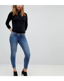Asos Design Petite Whitby Low Rise Skinny Jeans In Andie Dark Stone Wash afbeelding