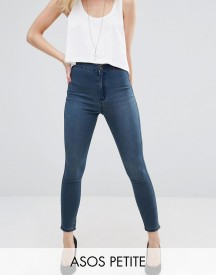 Asos Petite Rivington Denim High Waist Jeggings In Claire Darkwash afbeelding