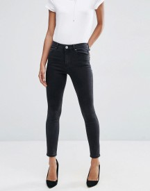 Asos Ridley Skinny Jeans In Washed Black afbeelding