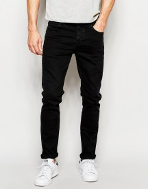 Asos Skinny Jeans In 12.5oz True Black afbeelding