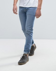 Asos Skinny Jeans With Abrasions In Light Blue afbeelding