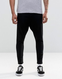 Asos Spray On Drop Crotch Jeans In Black afbeelding
