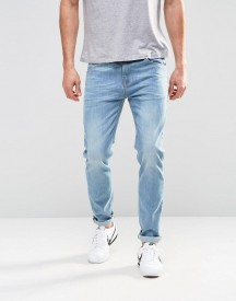Asos Stretch Slim Jeans In Light Blue Wash afbeelding
