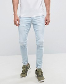 Asos Super Skinny Jeans In Bleach Blue afbeelding