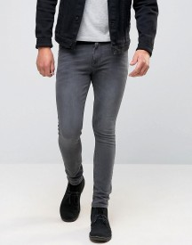 Asos Super Skinny Jeans In Grey afbeelding