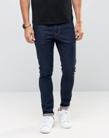 Asos Super Skinny Jeans In Raw Blue afbeelding