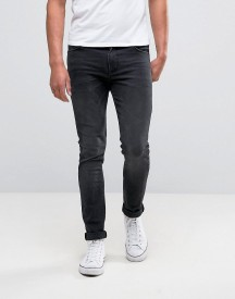 Asos Super Skinny Jeans In Washed Black afbeelding