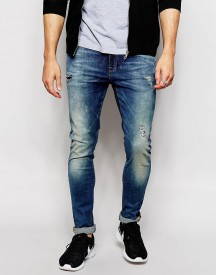 Asos Super Skinny Jeans With Abrasions afbeelding