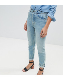 Asos Design Tall Florence Authentic Straight Leg Jeans In Light Green Cast afbeelding