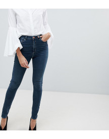 Asos Design Tall Ridley High Waist Skinny Jeans In Aged Blue Wash afbeelding